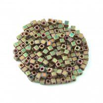 Miyuki kocka gyöngy - 2035 - Matte Metallic Khaki Iris - 1.8mm