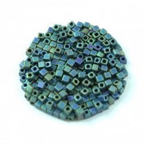 Miyuki kocka gyöngy - 2064 - Matte Metallic Blue Green Iris - 1.8mm