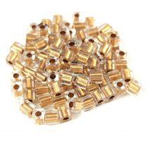 Miyuki kocka gyöngy - 234 - Gold Lined Crystal - 3mm