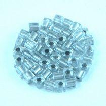 Miyuki kocka gyöngy - 242 - Metallic Silver Lined Crystal - 3mm