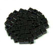 Miyuki kocka gyöngy - 401 - Opaque Black - 3mm
