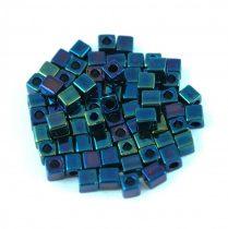 Miyuki kocka gyöngy - 452 - Metallic Blue Iris - 3mm