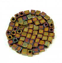Miyuki kocka gyöngy - 462 - metál arany írisz-3mm