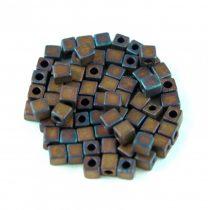 Miyuki kocka gyöngy - 2005 - Matte Metallic Copper Iris - 3mm