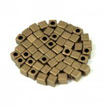 Miyuki kocka gyöngy - 2006 - matte metallic bronz - 3mm