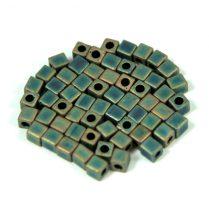 Miyuki kocka gyöngy - 2008 - matt metál patina írisz -3mm
