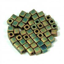 Miyuki kocka gyöngy - 2035 - matt metál khaki írisz-3mm