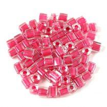 Miyuki kocka gyöngy - 2603 - Sparkling Rose Lined Crystal - 3mm