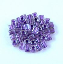 Miyuki Cube Japanese Glass Bead - 2607 - Sparkling Purple Lined Crystal - 3mm
