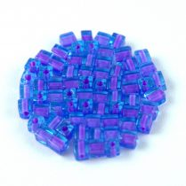 Miyuki Cube Japanese Glass Bead - 2640 - Lavender Lined Blue - 3mm