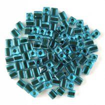 Miyuki kocka gyöngy - 2641 - Black Lined Blue - 3mm