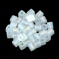 Miyuki kocka gyöngy - 0131fr - Matte Crystal AB - 4mm