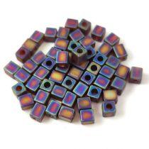 Miyuki kocka gyöngy - 0134fr - Matte Transparent Dark Topaz AB - 4mm