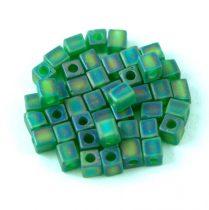 Miyuki kocka gyöngy - 0146fr - Matte Transparent Green AB - 4mm