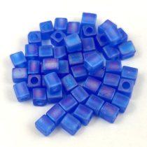 Miyuki kocka gyöngy - 0150fr - Matte Sapphire AB - 4mm