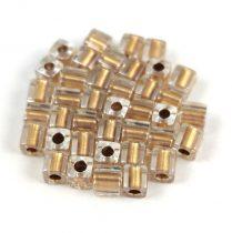 Miyuki kocka gyöngy - 0234 - Gold Lined Crystal - 4mm