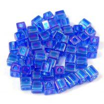 Miyuki kocka gyöngy - 0290 - Sapphire AB - 4mm