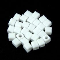 Miyuki kocka gyöngy - 0402f - Matte White - 4mm