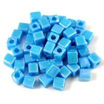 Miyuki kocka gyöngy - 0413fr - Matte Opaque Turquoise Blue AB - 4mm