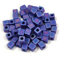 Miyuki kocka gyöngy - 0414fr - Matte Opaque Cobalt  AB - 4mm