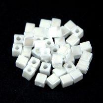 Miyuki kocka gyöngy - 0420 - Opaque White Luster - 4mm