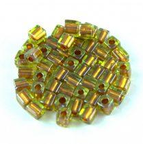 Miyuki kocka gyöngy - 2631 - Sparkling Copper Lined Chartreuse - 4mm