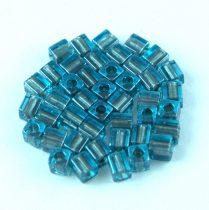 Miyuki kocka gyöngy - 2639 - Sparkling Pewter Lined Aqua - 4mm