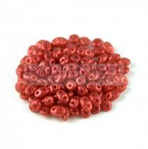 Miniduo gyöngy 2.5x4mm - matt metál vörös