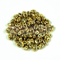 Miniduo gyöngy 2.5x4mm - crystal full amber