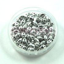 Miniduo cseh kétlyukú gyöngy - Silver - 2.5x4mm