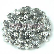 Miniduo gyöngy 2.5x4mm - kristály - ezüst