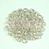 Miniduo gyöngy 2.5x4mm - ezüst közepű kristály