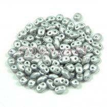 Miniduo bead 2.5x4mm polichrome metallic silver