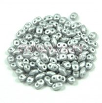 Miniduo bead 2.5x4mm polichrome metallic silver