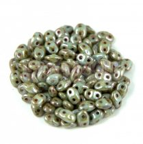 Miniduo bead 2.5x4mm brown green picasso