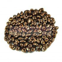 Miniduo gyöngy 2.5x4mm - bronz