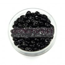Miniduo gyöngy 2.5x4mm - fekete