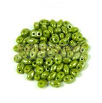 Miniduo bead green pea luster 2.5x4mm