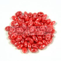 Miniduo gyöngy 2.5x4mm - red luster