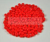 Miniduo gyöngy 2.5x4mm - sötét korall