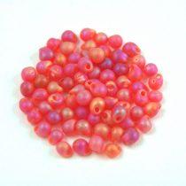 Miyuki drop gyöngy - 140fr - Transparent Frosted Orange Red AB - 2.8mm