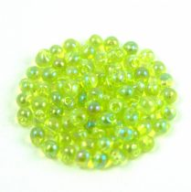 Miyuki drop gyöngy - 258 - Transparent Lime Green AB - 2.8mm