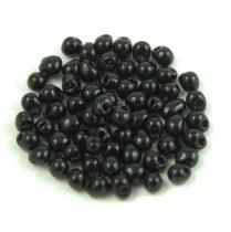 Miyuki drop gyöngy - 401 - Opaque Black - 2.8mm