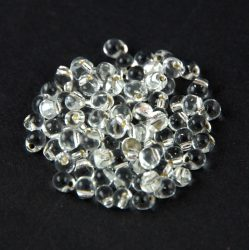 Miyuki Drop Japanese Seed Bead - 0001 - Silver Lined Crystal - size: 3,4mm