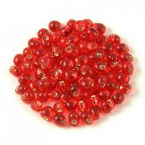 Miyuki drop gyöngy - 10 - Silver Lined Red - 3.4mm