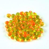 Miyuki drop gyöngy - f13 - Salmon Lined Lime - 3,4mm