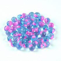 Miyuki drop gyöngy-f19 - Electric Peach Lined Light Blue - 3,4mm