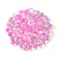 Miyuki drop gyöngy-f23 - Raspberry Lined Crystal - 3,4mm