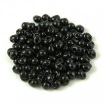 Miyuki drop gyöngy - 401 - Black - 3,4mm