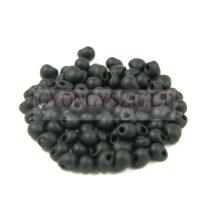 Miyuki drop gyöngy - Frosted Black - 3,4mm